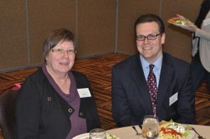 Claudia Meyer, President-Elect and Justin Kuehl, President at the AAIDD WI 2014 Conference.