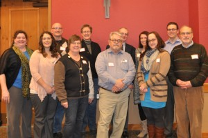 Front Row: Julie Grieves, Kristin Gremban, Claudia Meyer, Perry Mueller, Angela Klemm, Don Anderson. Back Row: Dan Drury, Nancy Pickett, Jim Hoegemeier, Linda Draayers, Justin Kuehl.